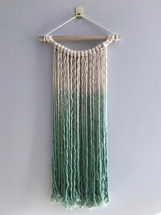 Light Green Dip Dye Wall Hanging