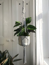 Load image into Gallery viewer, Light Grey Macrame Plant Hanger