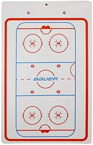 "Bauer Hockey Coaches Dry Erase Clipboard, 2-Sided Board with Marker, 10"" x 16"""