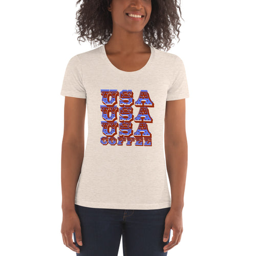 Women's Crew Neck USA T-shirt