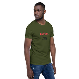 Coffee and Bear T Shirt mens