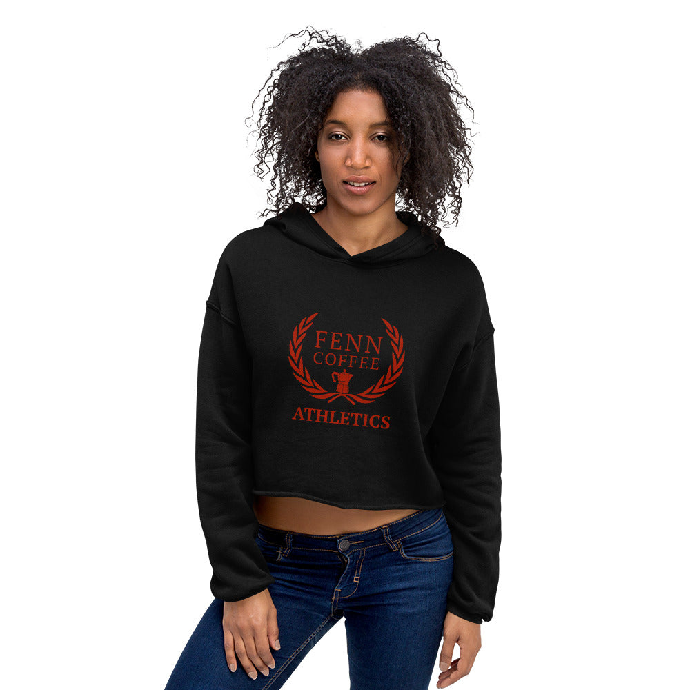 Fenn Coffee Athletics Crop Hoodie