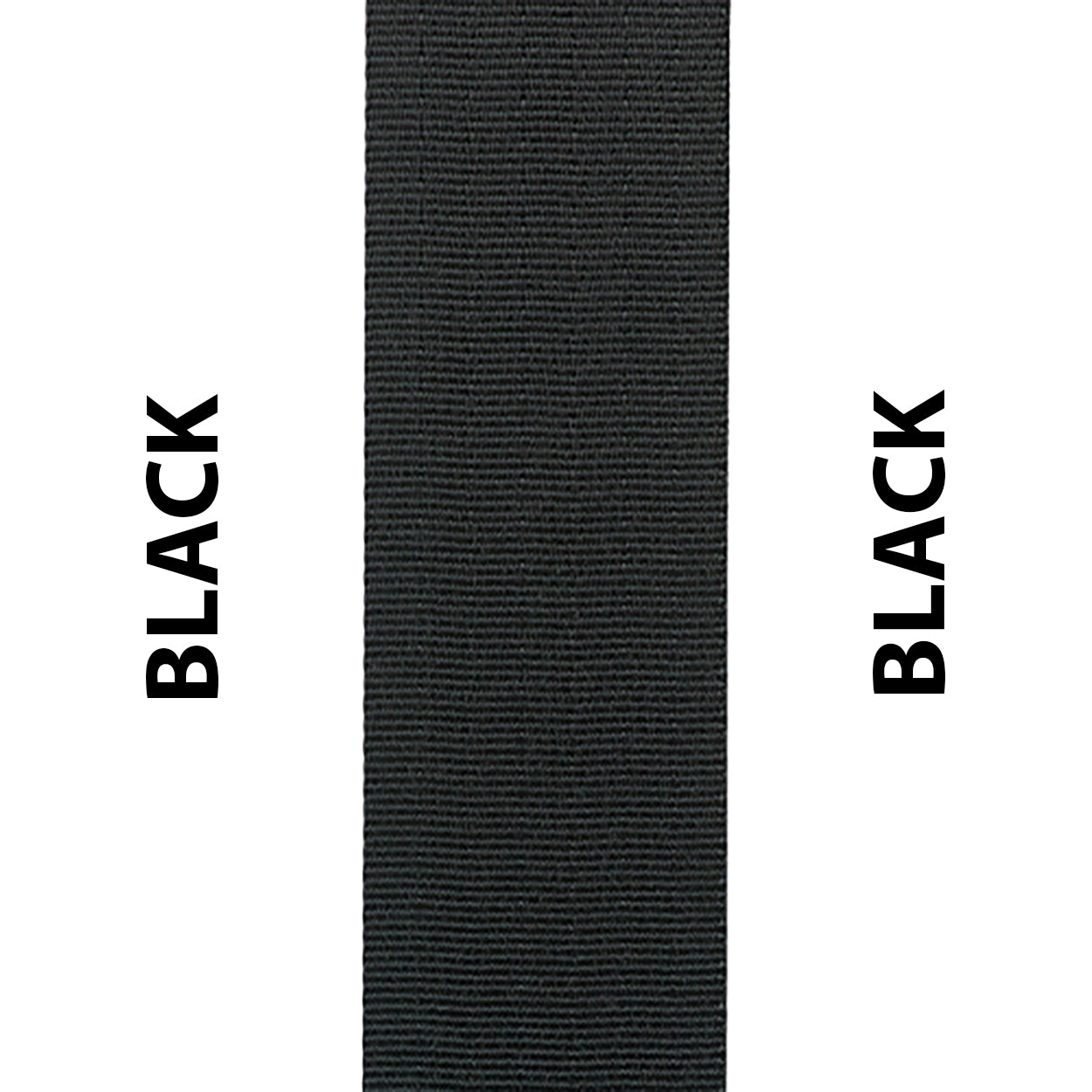 Black Seat Belt Webbing Replacement Strap