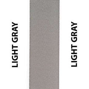 Light Gray / Grey Seat Belt Webbing Replacement Strap