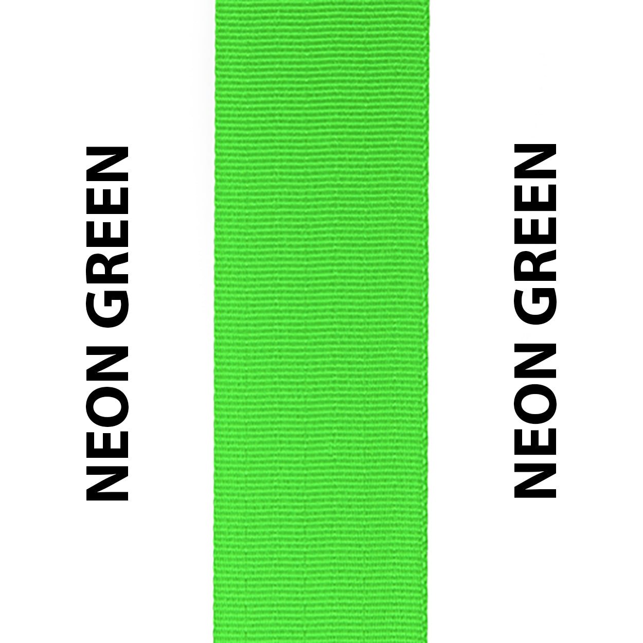 Neon Green Seat Belt Webbing Replacement Strap