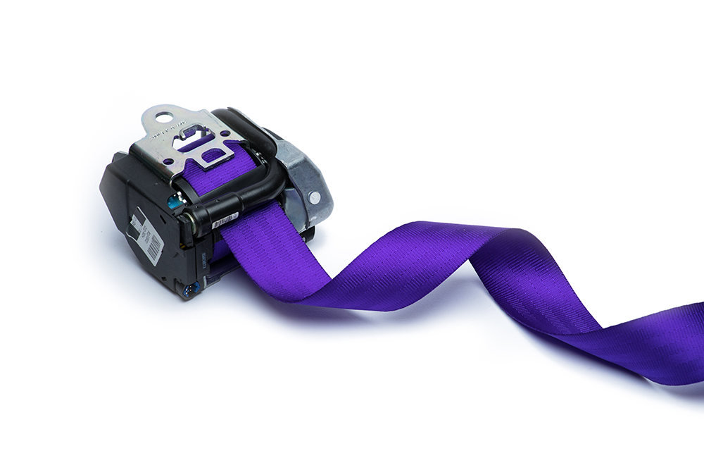 Purple Seat Belt Webbing