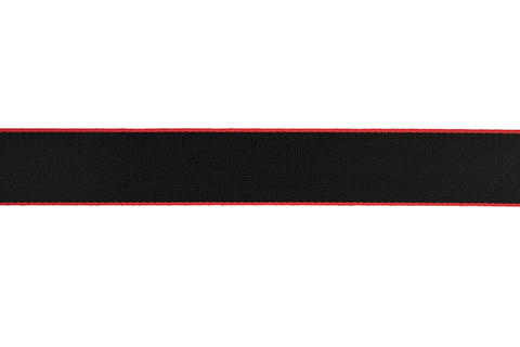 Custom Colored Seat Belt in Black with Red Edges