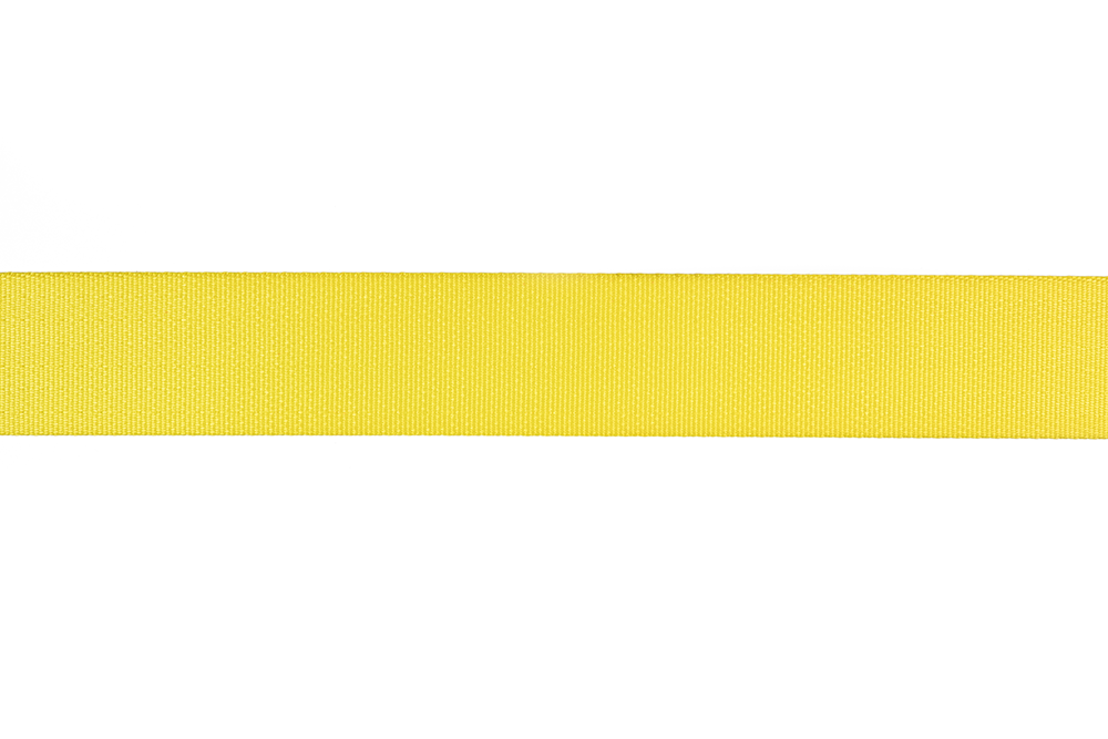 Yellow Seat Belt Webbing Strap