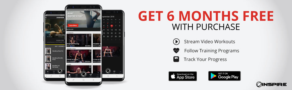 Inspire Fitness: FREE 6 month app trial – G&G Fitness Equipment