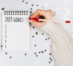 fitness goals and new years resolution planner to help you make and achieve your fitness goals. How to set a goal in 2019