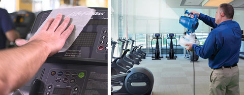 5 steps to reopen a gym - Step 3 Ongoing Sanitation Disinfecting and Cleaning for gyms