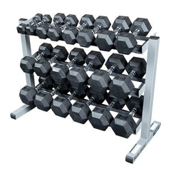 complete home dumbbell workout set with rack