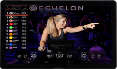 Exercise bike with classes and coaches