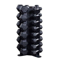 total home dumbbell kit with vertical storage rack
