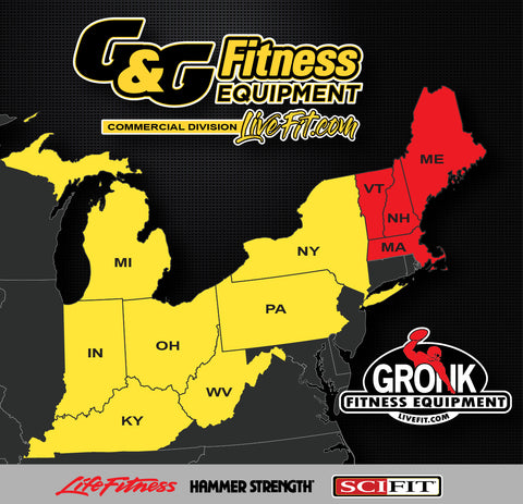 G&G Fitness Equipment to provide commercial treadmill elliptical gym equipment in West Virginia, Kentucky, and Indiana