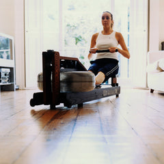 Water rower home rowing workout tips