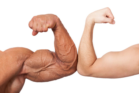bodybuilder and normal arm size - gain strength without mass