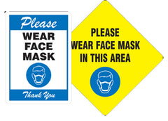 covid corona facemask signs for gyms and fitness centers