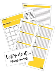fitness journal planner free printable download worksheet