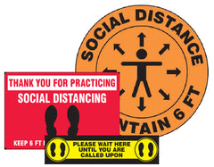social distancing signs for schools gyms fitness centers