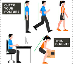 good posture from situps infographic