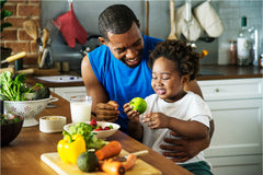 kids in the kitchen cooking healthy