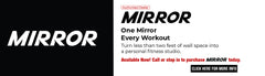 Mirror fitness mirror interactive home gym
