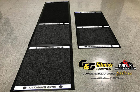 Safety sanitizer mats for schools, gyms, and fitness centers