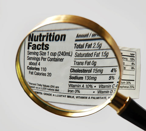 nutrition facts label simple
