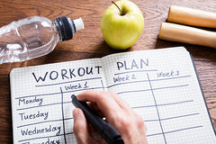 6 Ways to Stay Motivated When Working Out at Home #2 Write Down a Workout Plan