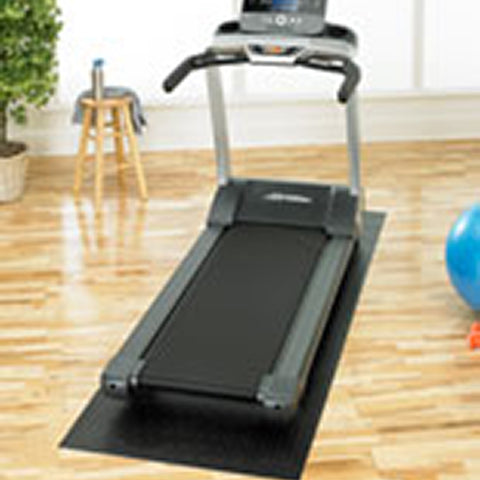 avoid static electricity build-up by using a mat under treadmill or elliptical to stop the zap in your workout or run