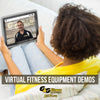 Virtual shopping from home for fitness equipment treadmill elliptical home gym