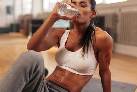 why should you drink water when working out at home or in a gym - treadmill or elliptical