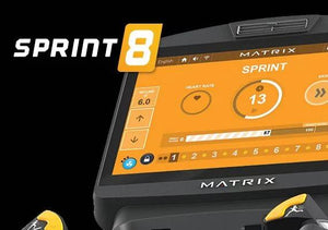 Sprint 8 available on Matrix A30 Ascent Trainer Elliptical screen view