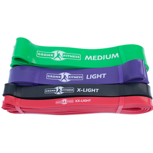 GRONK FITNESS LATEX STRENGTH BANDS