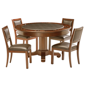 Floor Model Gaming Table with 4 Chairs