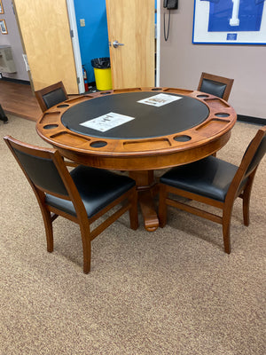 Floor Model Brunswick Heritage Gaming Table with 4 Chairs