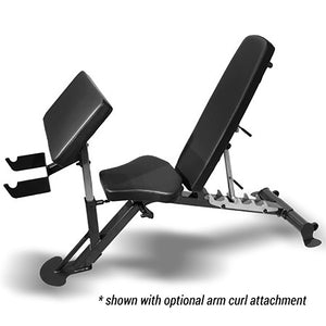 Inspire SCS-WB Flat / Incline / Decline Bench with arm preacher curl attachment