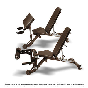 SCS Bench with Leg & Preacher Curl Attachments only includes one bench