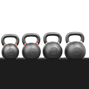 KETTLEBELL CAST IRON COLORED BANDS