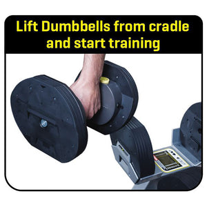 MX55 Selectorized Adjustable Dumbbells with Stand 5