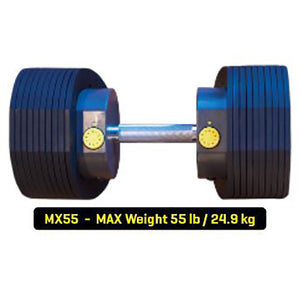 MX55 Selectorized Adjustable Dumbbells with Stand max 55lb