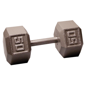 Body Solid Iron Hex Standard Dumbbell Gray