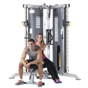 EVOLUTION CORNER DUAL STACK MULTI-FUNCTIONAL TRAINER