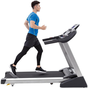 Spirit XT385 Treadmill folding treadmill sideview