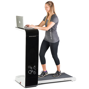 standing desk body craft space walker treadmill compact folding treadmill desk black