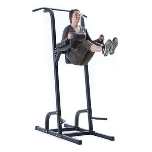 FIT 505 Vertical Knee Raise VKR V2 Perform knee or leg raises to target your abs! Hit the lats, shoulders and arms through wide grip or close grip chin ups. Focus on your chest and arms with push ups & one of the most difficult... dips!