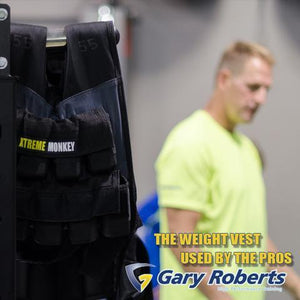 55lbs Adjustable Weighted Training Vest Gary Roberts