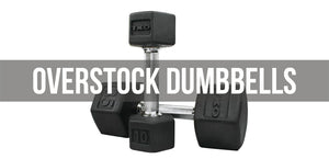Rubber Hex Dumbbell - Liquidation Stock
