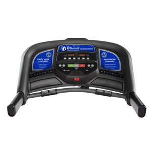 Console Horizon T101 the best folding treadmill with easy folding, bluetooth and charger
